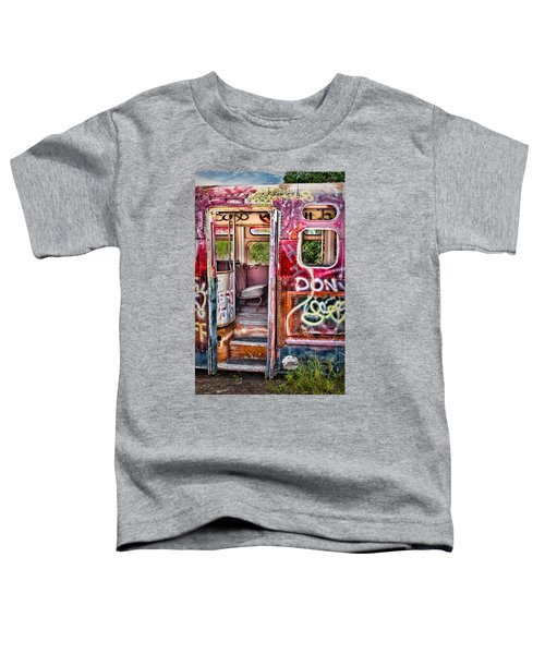 Haunted Graffiti Art Bus Toddler T-Shirt