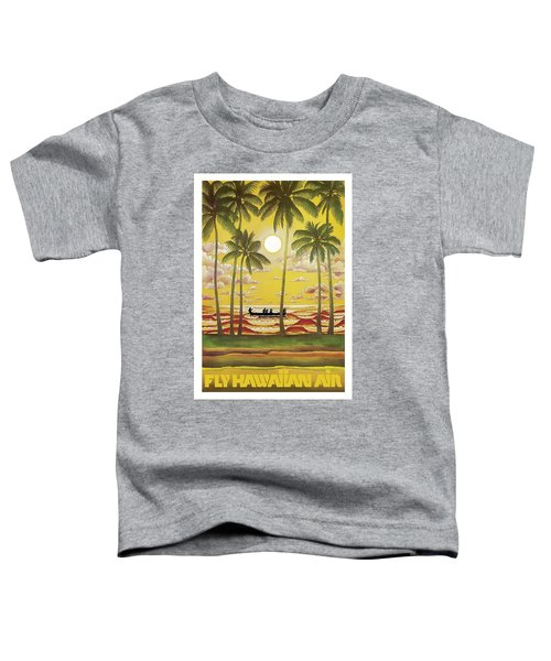Hawaii Vintage Airline Travel Poster  Toddler T-Shirt