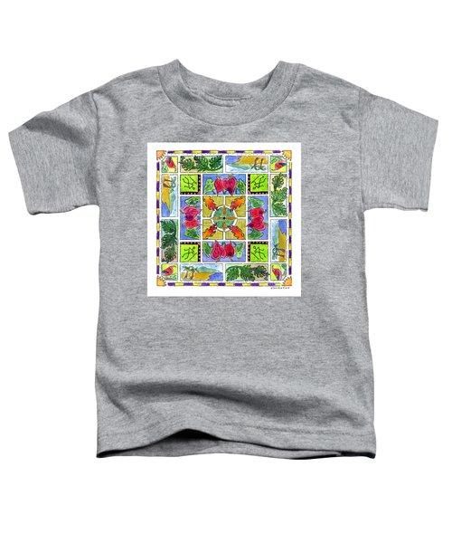 Hawaiian Mandala Iv - Anthuriums Toddler T-Shirt