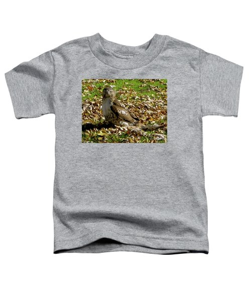 Hawk Falling Leaves Toddler T-Shirt