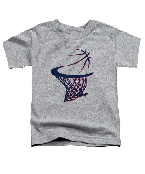 Hawks Basketball Hoop Toddler T-Shirt