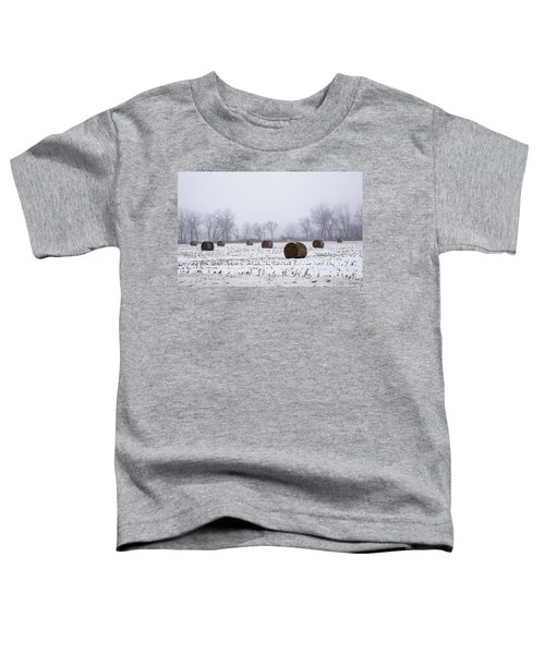 Hay Bales In The Snow Toddler T-Shirt