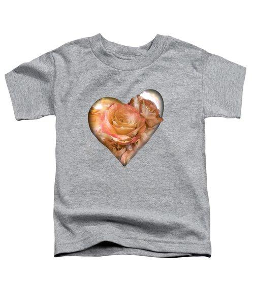 Heart Of A Rose - Gold Bronze Toddler T-Shirt