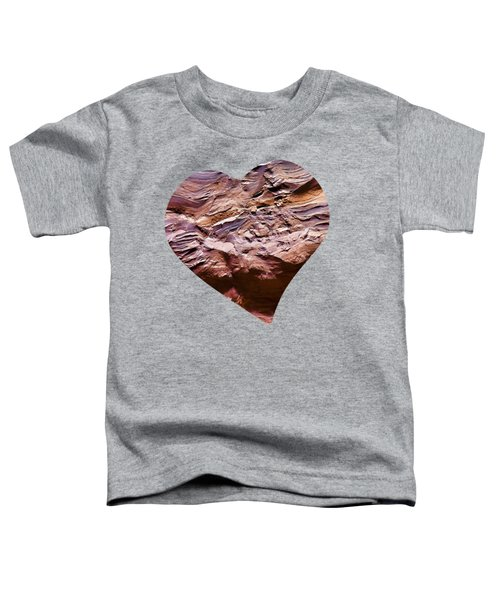 Heart Shape Stone Art Toddler T-Shirt