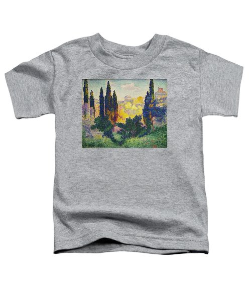 Henri Edmond Cross French Les Cypres A Cagnes Toddler T-Shirt
