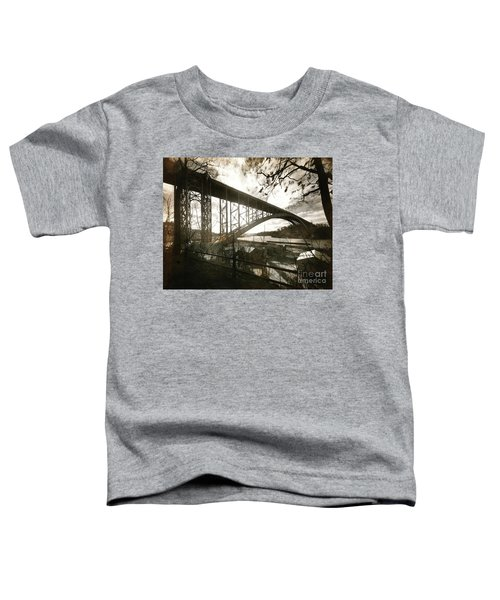 Henry Hudson Bridge, 1936 Toddler T-Shirt by Cole Thompson