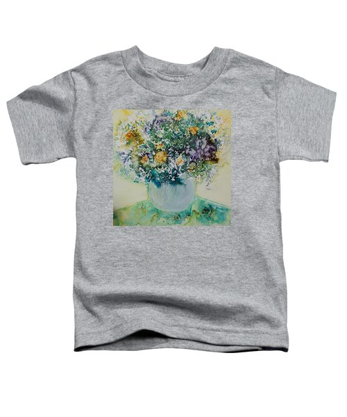 Toddler T-Shirt featuring the painting Herbal Bouquet by Joanne Smoley