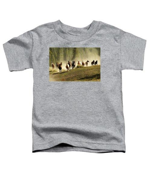 Herd Of Wild Horses Toddler T-Shirt