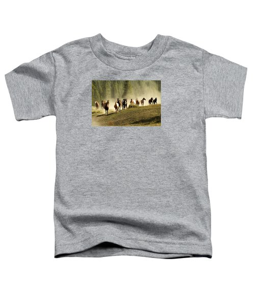 Herd Of Wild Horses Toddler T-Shirt