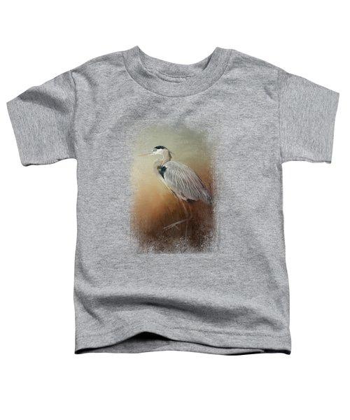 Heron At The Inlet Toddler T-Shirt by Jai Johnson