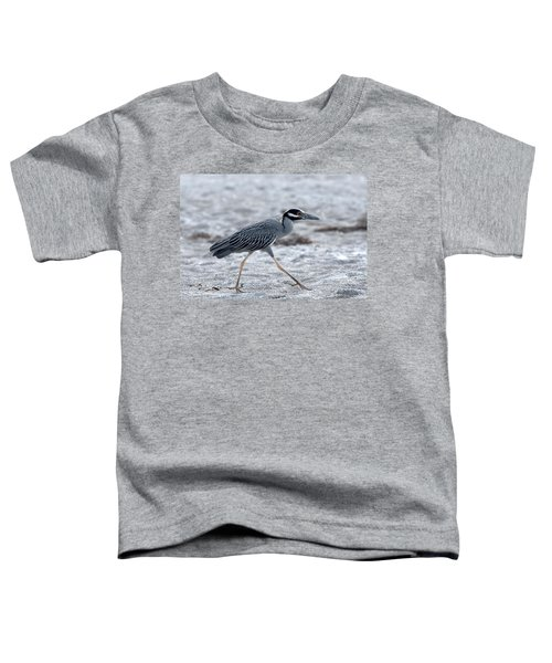 Yellow-crowned Night Heron On A Mission Toddler T-Shirt
