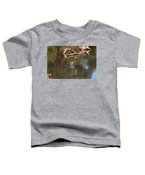 Heron Reflection Toddler T-Shirt