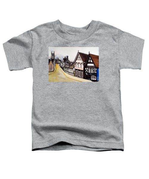 High Street Of Stamford In England Toddler T-Shirt by Dora Hathazi Mendes