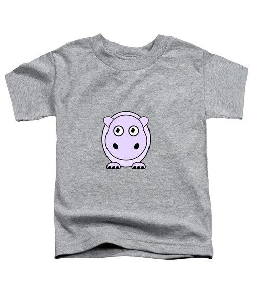 Hippo - Animals - Art For Kids Toddler T-Shirt by Anastasiya Malakhova