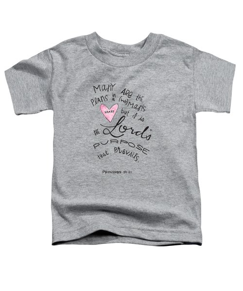 His Purpose Prevails Toddler T-Shirt
