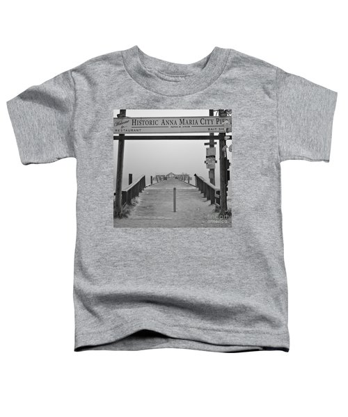 Historic Anna Maria City Pier In Fog Infrared 52 Toddler T-Shirt