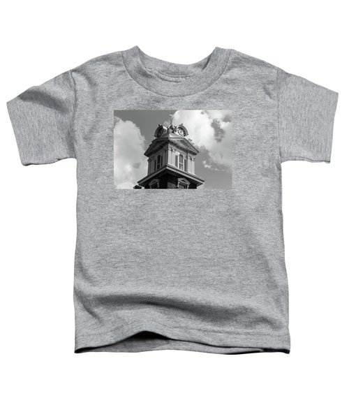 Historic Courthouse Steeple In Bw Toddler T-Shirt