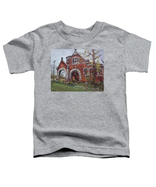Historic Union Street Train Station In Lockport Toddler T-Shirt