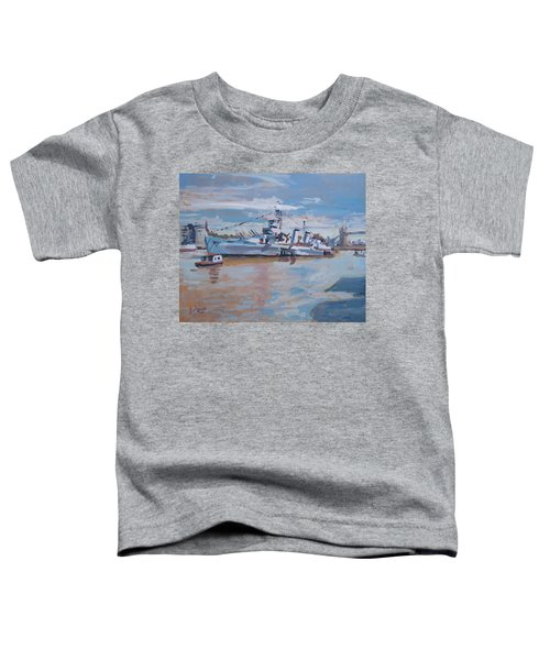 Hms Belfast Shows Off In The Sun Toddler T-Shirt