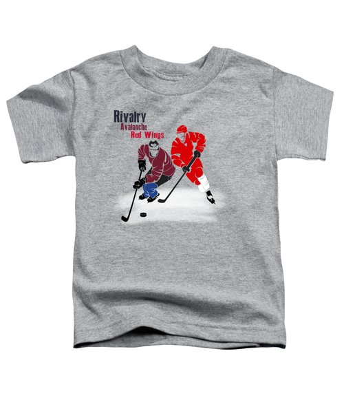 Hockey Rivalry Avalanche Red Wings Shirt Toddler T-Shirt