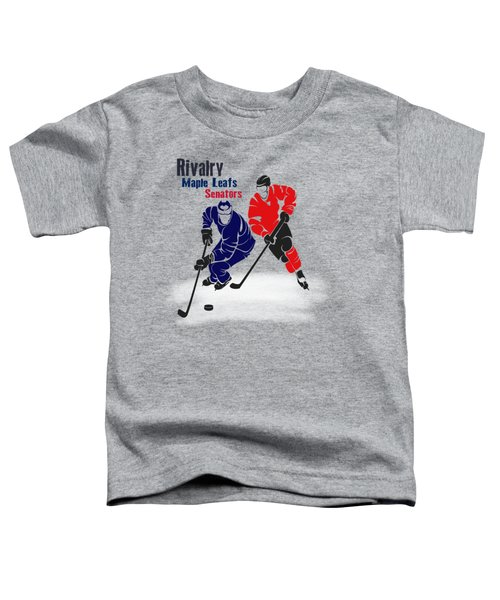 Hockey Rivalry Maple Leafs Senators Shirt Toddler T-Shirt