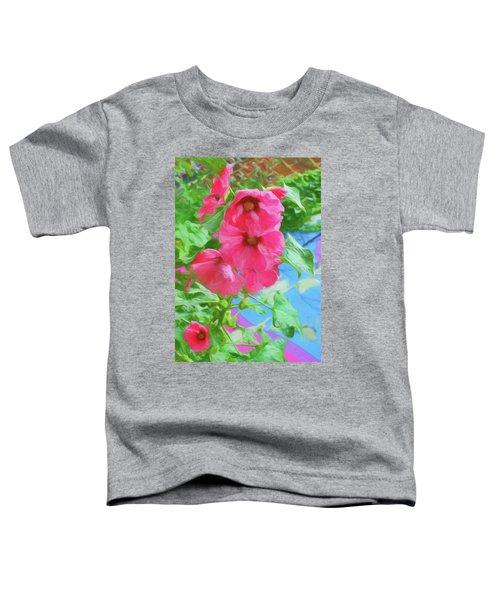Hollyhocks - 3 Toddler T-Shirt