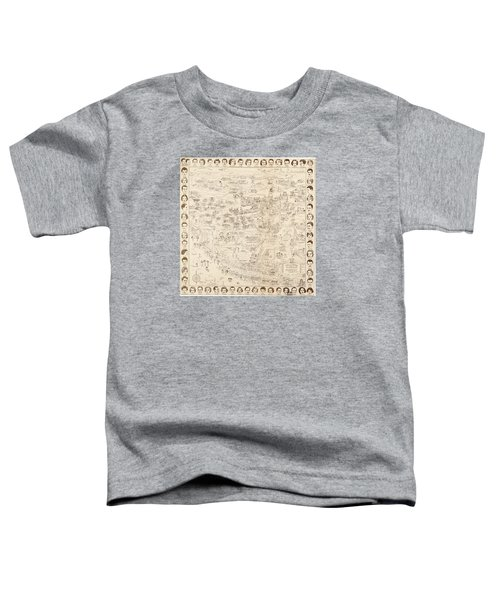 Hollywood Map To The Stars 1937 Toddler T-Shirt