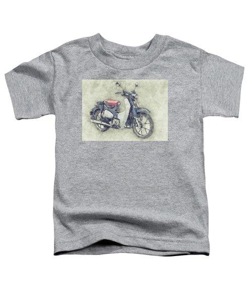 Honda Super Cub 1 - Motor Scooters - 1958 - Motorcycle Poster - Automotive Art Toddler T-Shirt