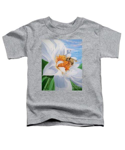 Flygende Lammet Productions     Honey Bee On White Flower Toddler T-Shirt