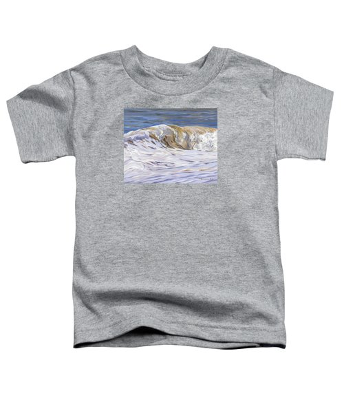 Toddler T-Shirt featuring the painting Honey Wave by Lawrence Dyer