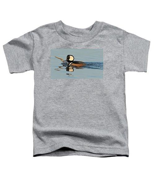 Hooded Merganser And Eel Toddler T-Shirt