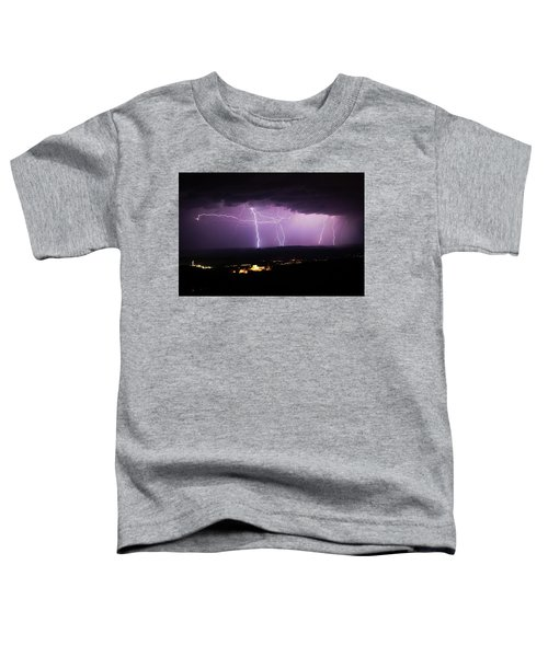 Horizontal And Vertical Lightning Toddler T-Shirt