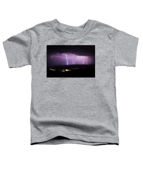 Horizontal And Vertical Lightning Toddler T-Shirt
