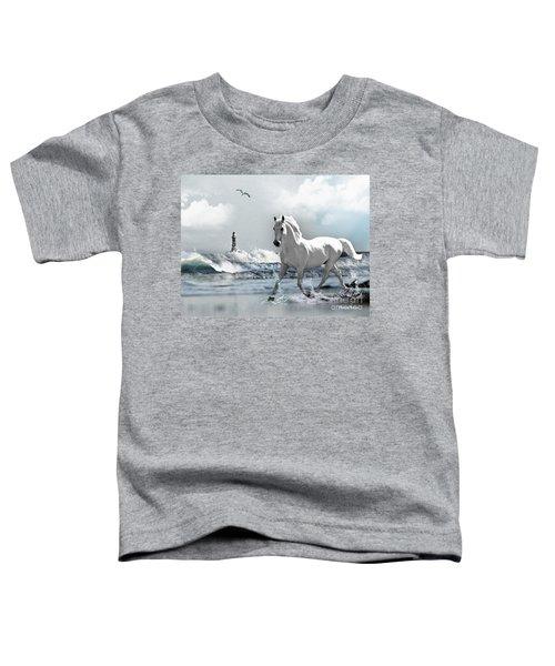 Horse At Roker Pier Toddler T-Shirt