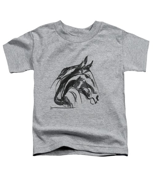Toddler T-Shirt featuring the painting horse - Apple digital by Go Van Kampen