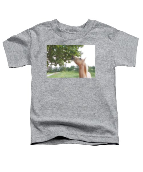 Horse Grazes In A Tree Toddler T-Shirt