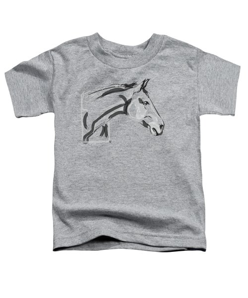 Toddler T-Shirt featuring the painting Horse - Lovely by Go Van Kampen