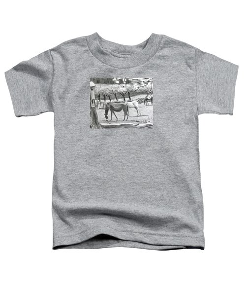 Horses And Trees In Bloom Toddler T-Shirt