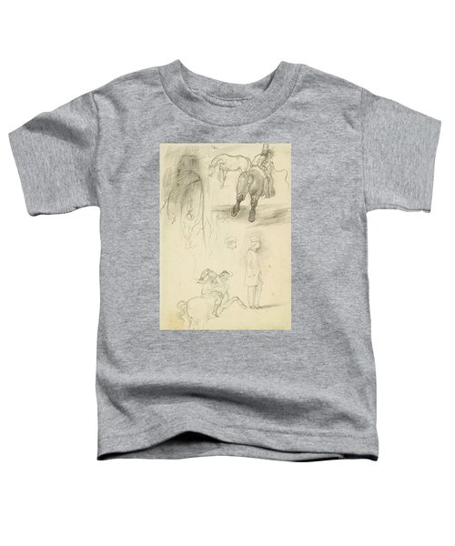 Horses Riders And A Young Man Toddler T-Shirt
