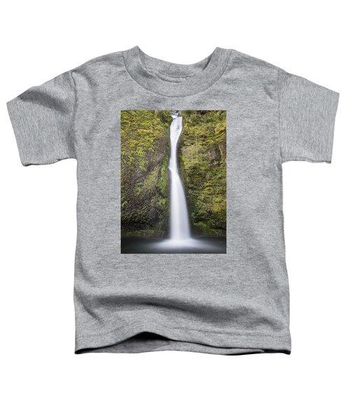 Horsetail Falls In Oregon With Splash Toddler T-Shirt