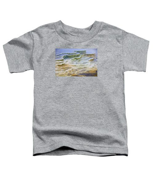 Toddler T-Shirt featuring the photograph Hot Springs Runoff by Gary Lengyel