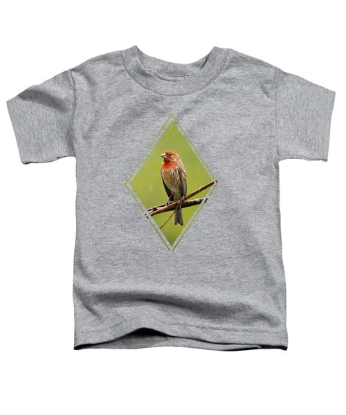 House Finch In The Rain Toddler T-Shirt by Christina Rollo