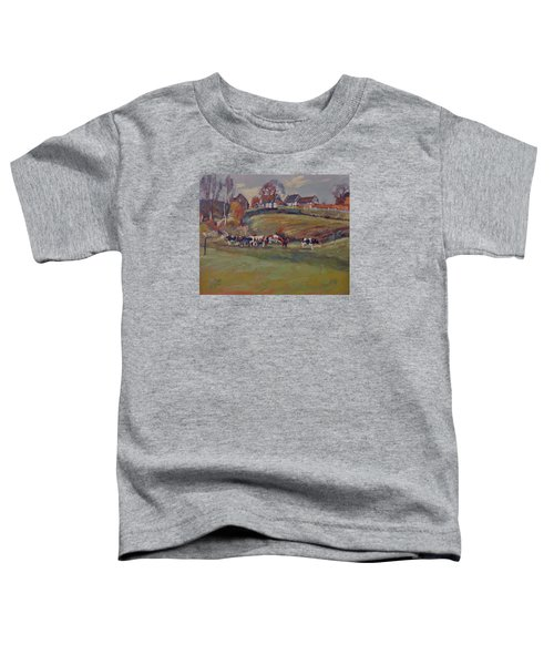 Houses And Cows In Schweiberg Toddler T-Shirt