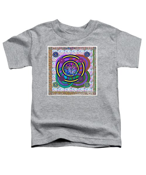 Hula Hoop Circles Tubes Girls Games Abstract Colorful Wallart Interior Decorations Artwork By Navinj Toddler T-Shirt