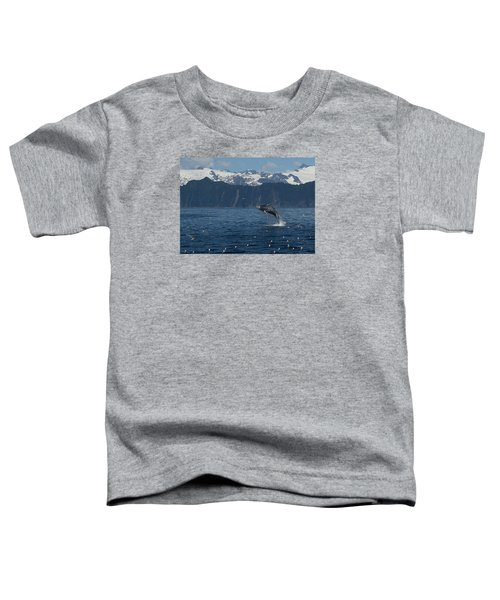 Humback Whale Arching Breach Toddler T-Shirt
