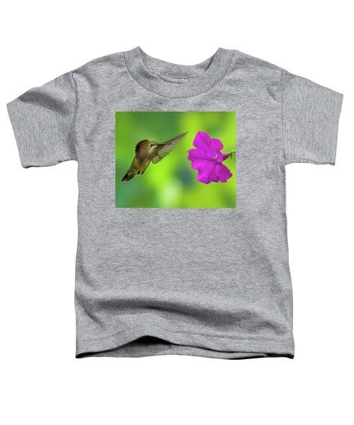 Hummingbird And Flower Toddler T-Shirt