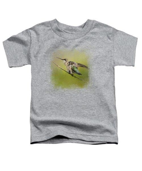 Hummingbird On Lime Toddler T-Shirt