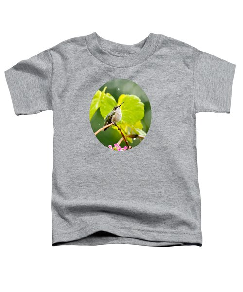 Hummingbird On Vine In The Rain Toddler T-Shirt