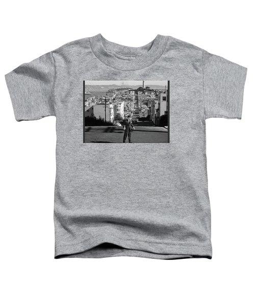 Humphrey Bogart Film Noir Dark Passage Telegraph Hill And Coit Tower San Francisco 1947 Toddler T-Shirt
