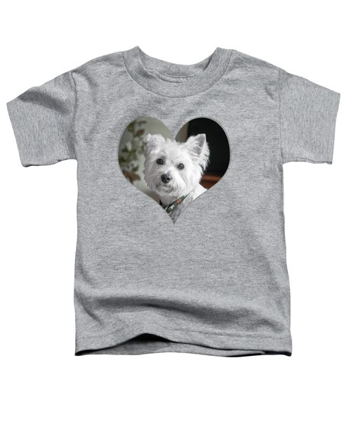 I Heart Puppy On A Transparent Background Toddler T-Shirt